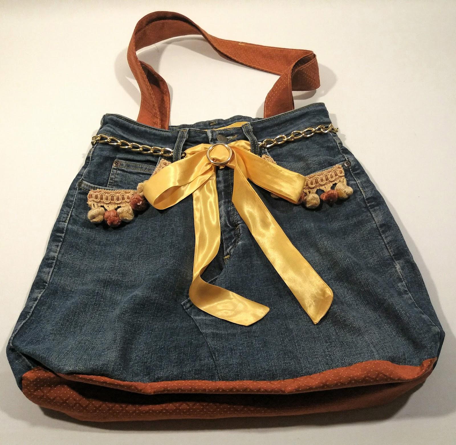 Borse Fatte A Mano Con I Jeans : Ecoartigianato borse jeans fatte a mano uniche e originali