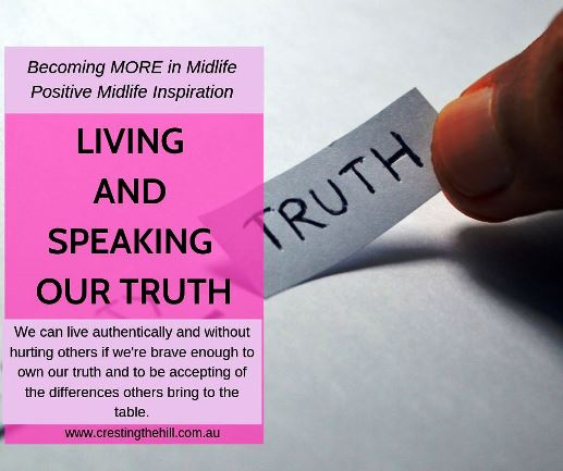 What does it mean to live our truth and to speak our truth? We can live authentically and without hurting others if we're brave enough to own our truth and to be accepting of the differences others bring to the table.  #inspiration #truth