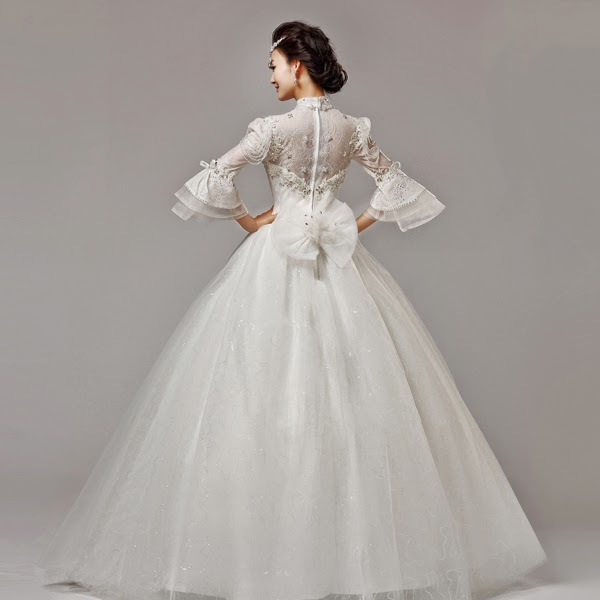 Wedding Gown Malaysia: Long Butterfly Sleeves Wedding Gown :: My Gown Dress