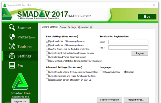 Download Smadav Antivirus 2017 Rev. 11.6.5