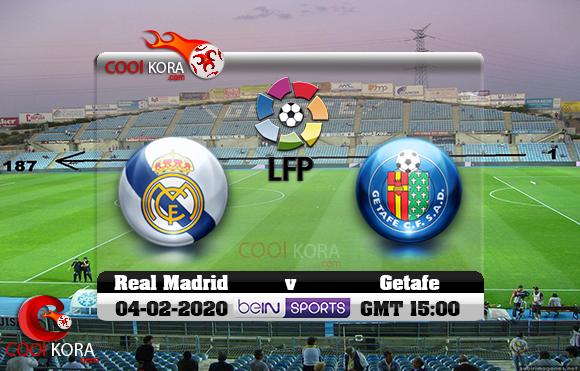 مشاهدة مباراة خيتافي وريال مدريد اليوم 4-1-2020 في الدوري الأسباني