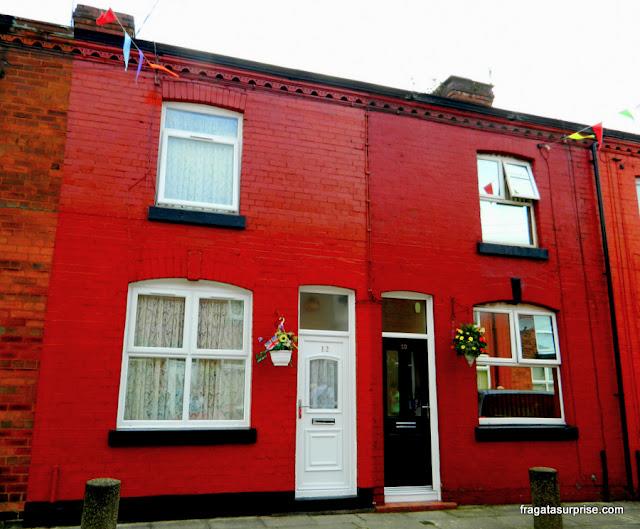 A primeira casa de George Harrison em Liverpool, em Arnold Grove