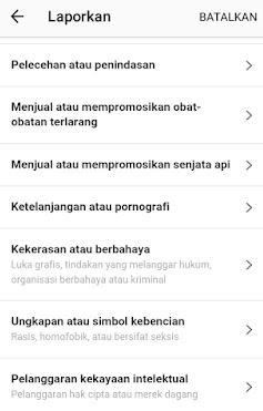 cara melaporkan akun instagram