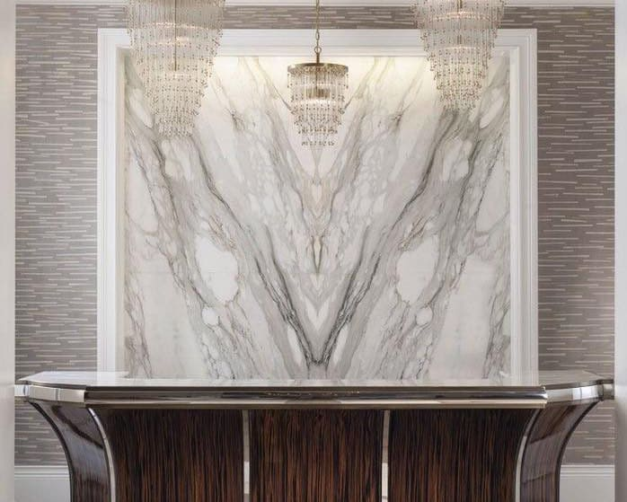 Attractive marble walls designs