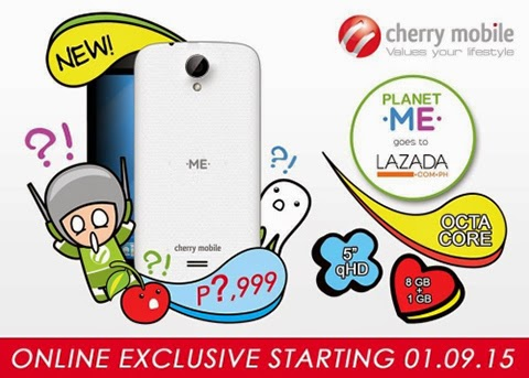 Cherry Mobile Me Vibe is exclusively available only to Lazada