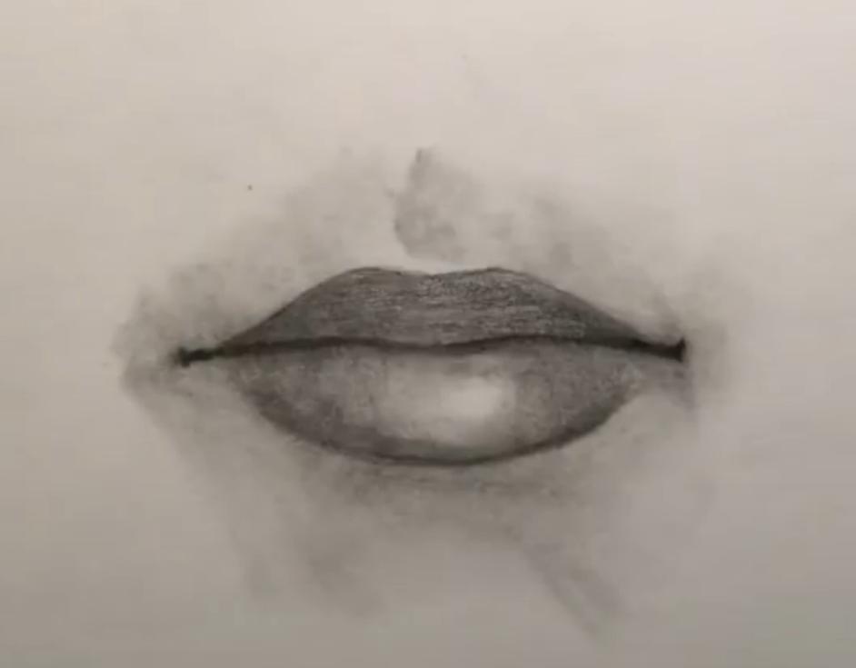 Cómo Dibujar Labios Realistas a Lápiz Paso a paso