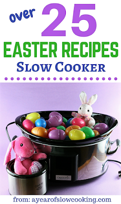 here are 25 plus ways to use your crockpot this Easter as you entertain your family and friends. There are ideas here for appetizers, side dishes, main course, and even dessert. ENJOY!