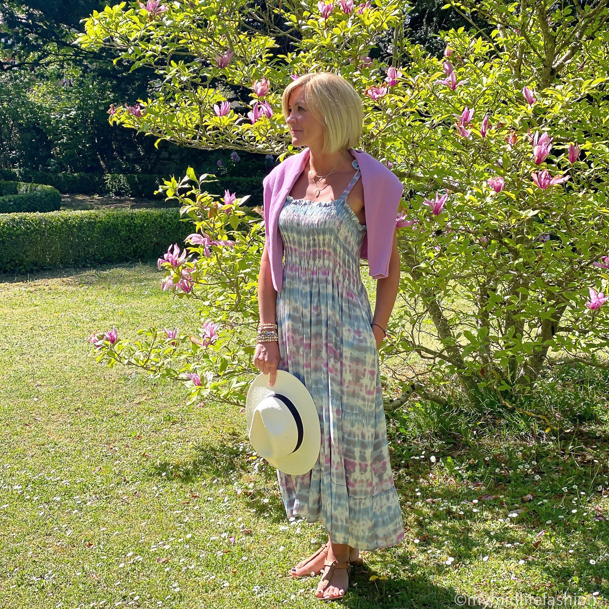 my midlife fashion, Baukjen aoife dress, Baukjen Eddi recycled cotton jumper