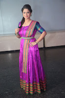 Shilpa Chakravarthy in Purple tight Ethnic Dress ~  Exclusive Celebrities Galleries 061.JPG
