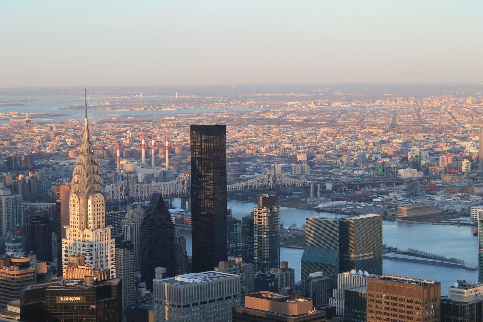 usa, nyc, new york, city, empire state building, top, vue, panorama, panoramique, coucher de soleil, sunshine, soleil, voyage, trip2live, road trip, holidays, airbnb, ceetiz, sky