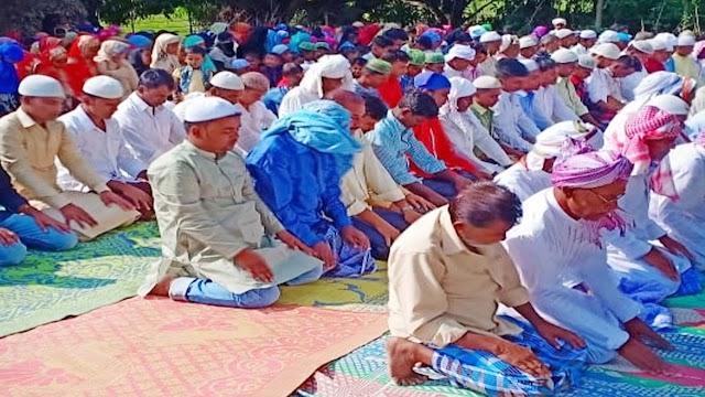 केसुली गांव मे हर्षोउल्लास के साथ मनाया गया ईद का त्यौहार