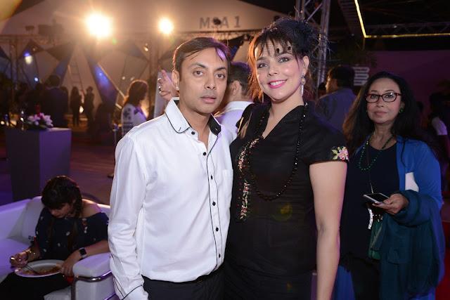 Entrepreneur Vikram Baidyanath with a guest