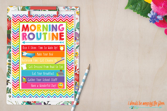 Visual Morning Routine Printable