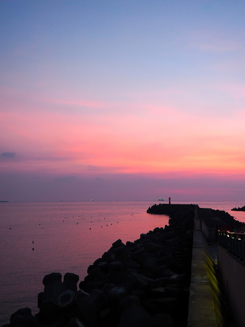 Sunset at Fisherman's Wharf, Tamsui, Taipei, Taiwan