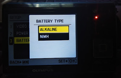 Olympus Fe-46 Digital Camera Battery Empty Error Message Alkaline