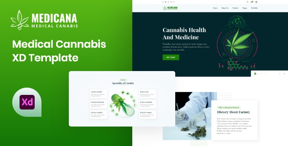 Best Medical Cannabis XD Template