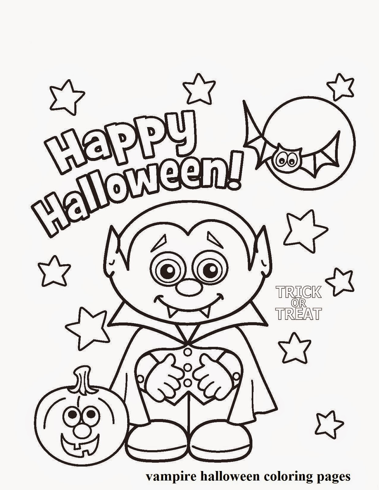 Vampire Halloween Coloring Pages