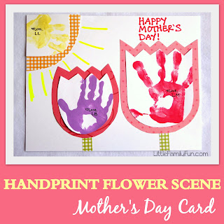Handprint Flowers Mother's Day Card