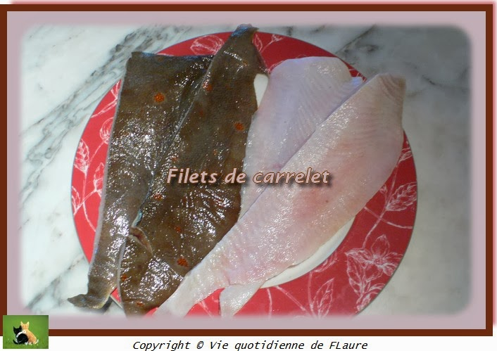 Vie quotidienne de FLaure: Filets de carrelet aux brocolis