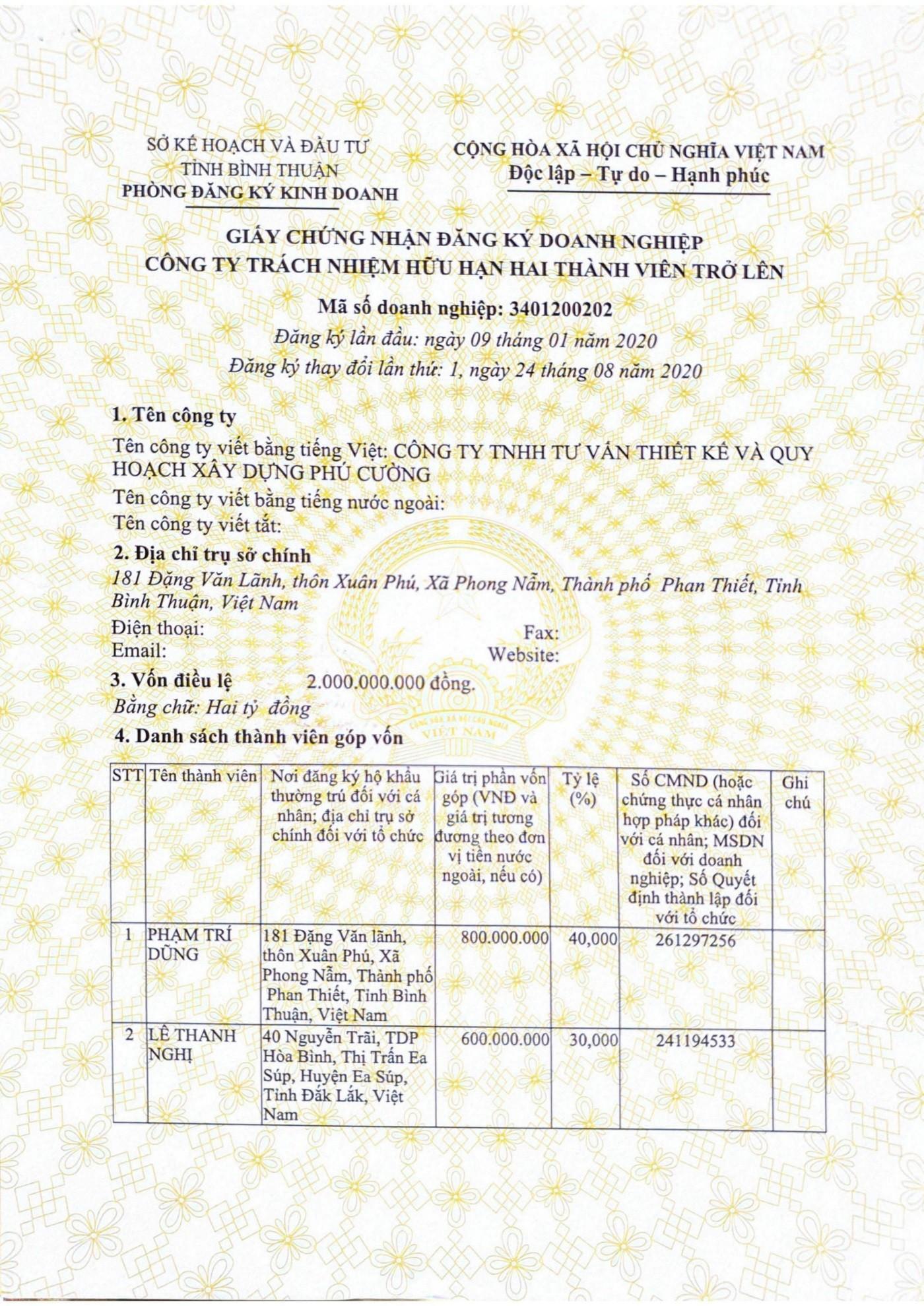 Công ty TNHH Tư vấn Thiết kế & Quy hoạch Xây dựng Phú Cường