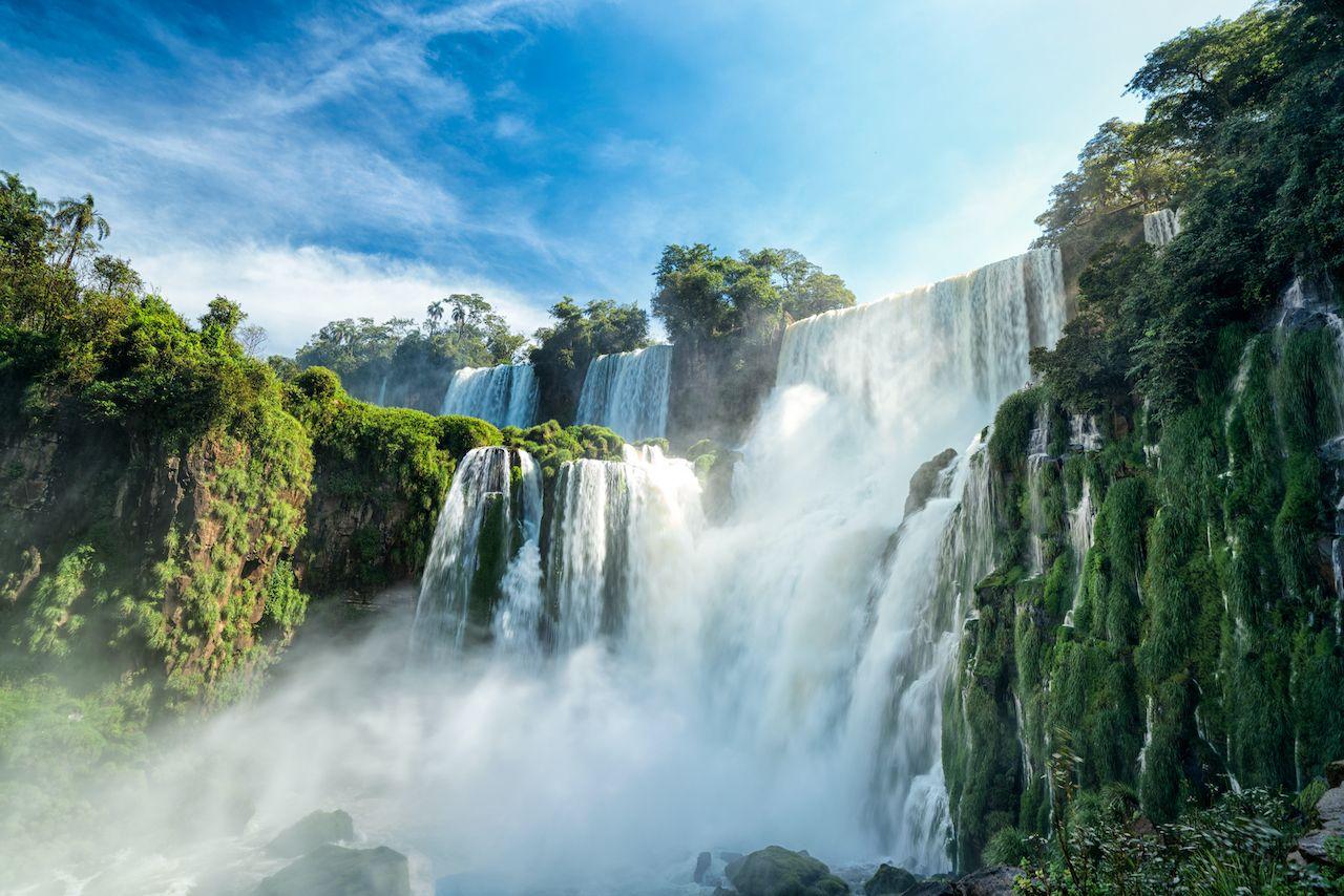 Водопады в парке Игуасу в Аргентине
