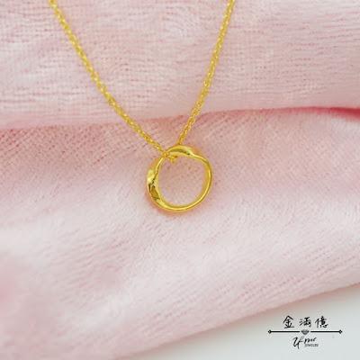 幾何造型-黃金項鍊
