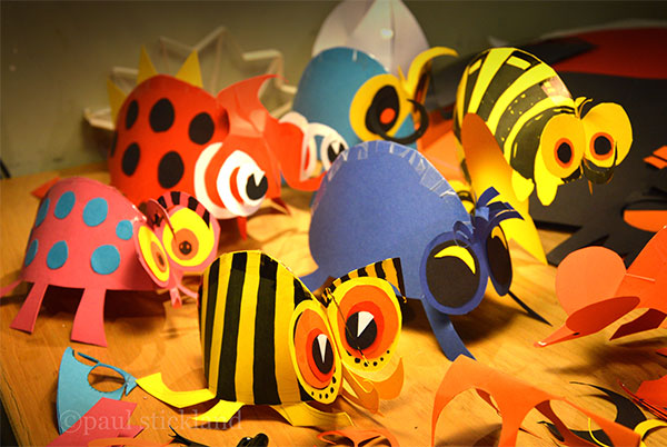 pop up paper bugs, bug workshop,