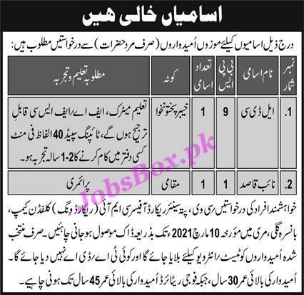 pakistan-army-jobs-for-ldc-naib-qasid-cmi-record-wing-clifden-camp