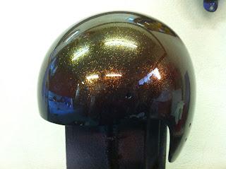 1215368479 - カスタムペイント工程  ジェットヘルメット 祭雲天女
