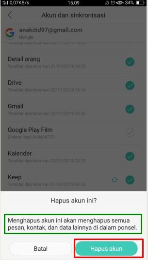 cara logout gmail di hp android oppo, samsung, xiaomi, vivo, realme, asus dan sebagainya