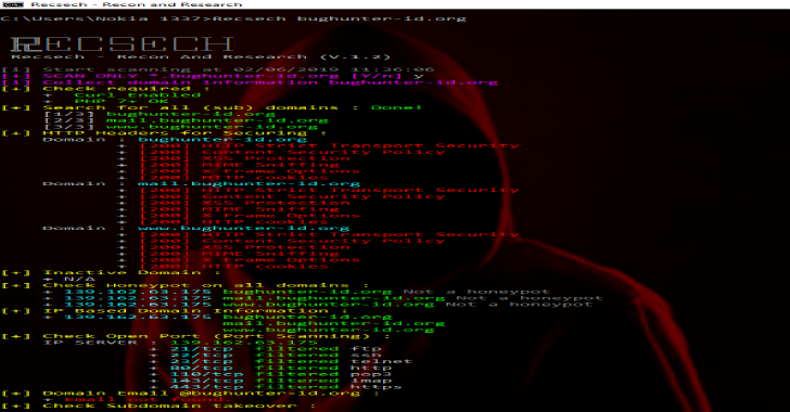 Recsech – Tool For Doing Footprinting & Reconnaissance On The Target Web