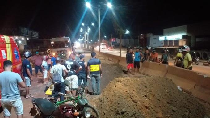 Homem de 50 anos fica ferido em acidente na rodovia transamazônica, em Itaituba