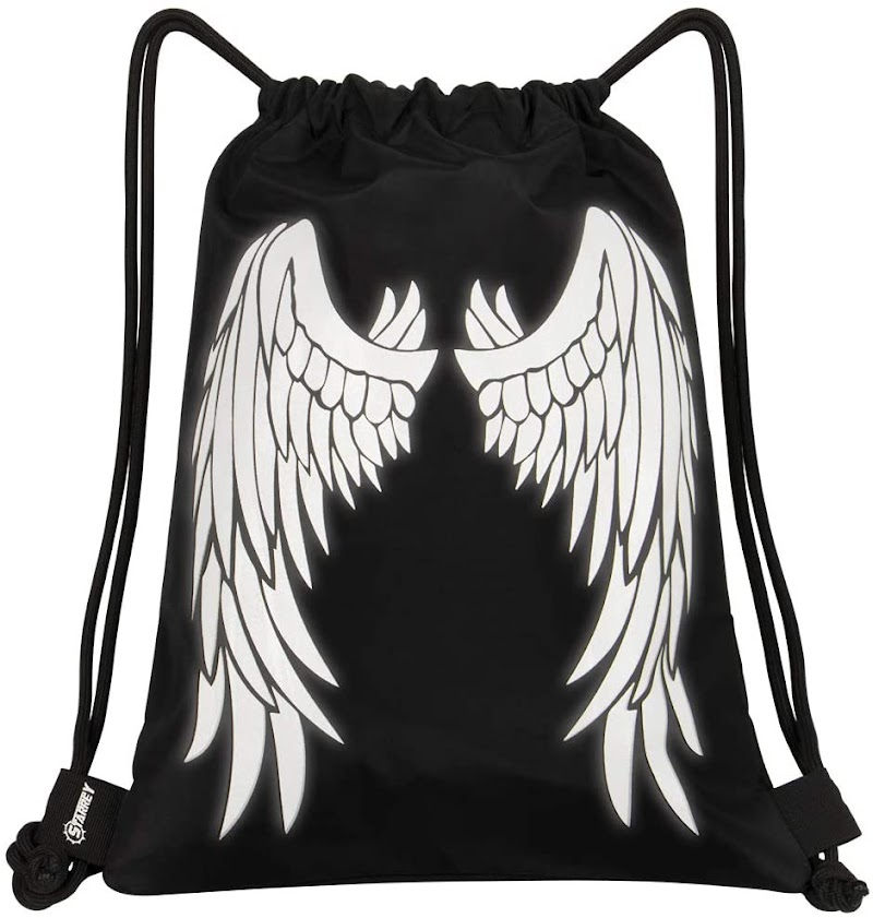 40% OFF  Starrey Reflective Angel Wings Drawstring Bag 13 IN X 16 IN
