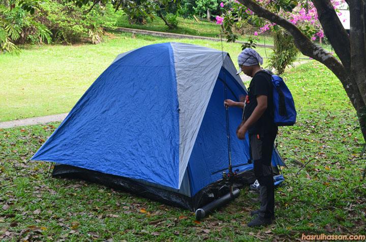 Tapak perkhemahan di Taman Negara Pahang