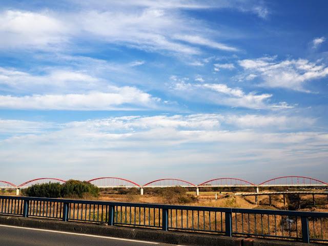 荒川 大芦橋 荒川水管橋