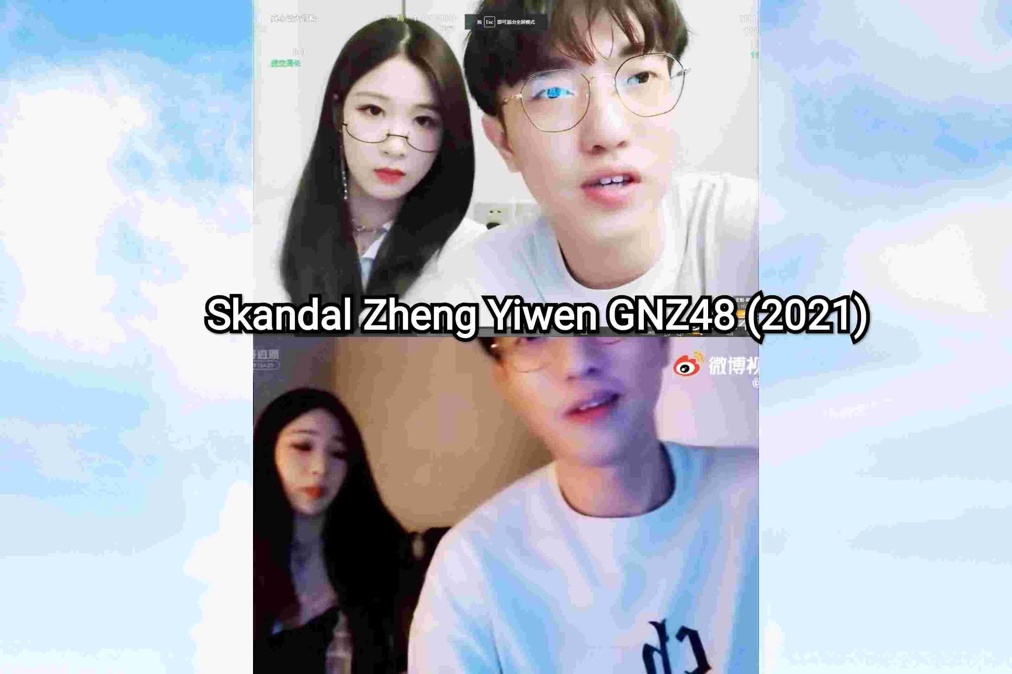 skandal zheng yiwen gnz48 graduate