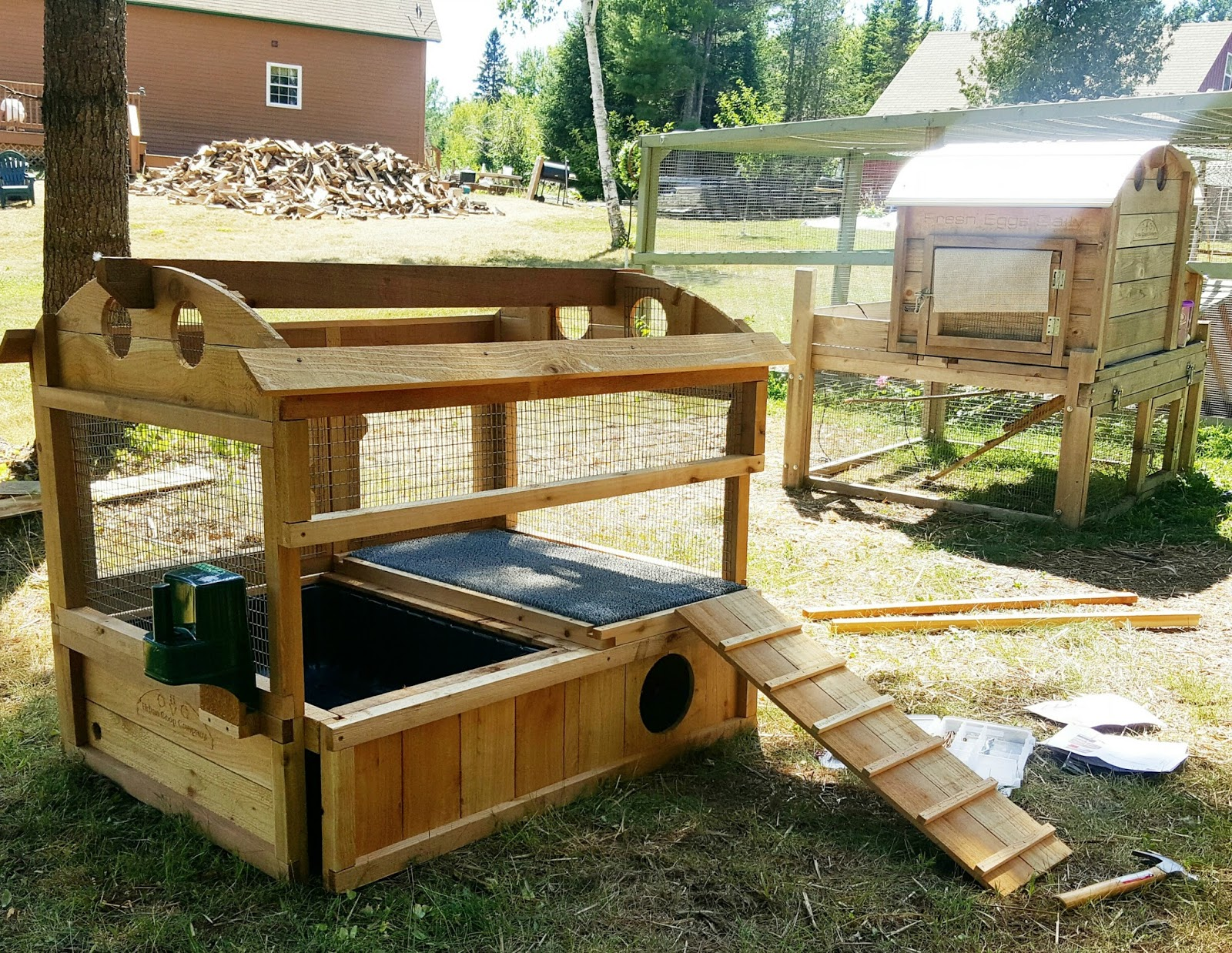 Introducing the urban coop company round top duck house for How to build a duck pen