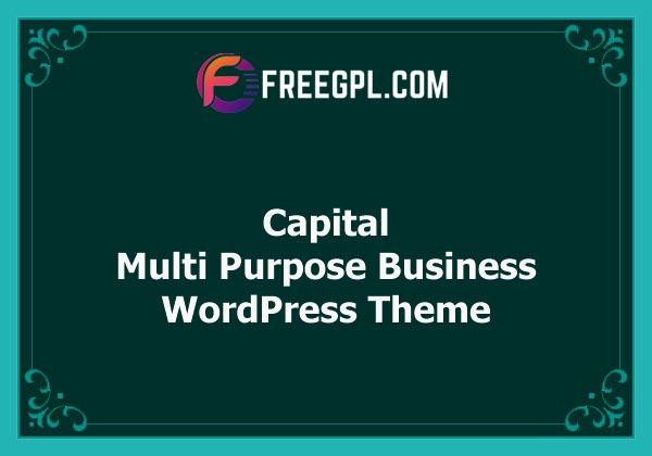 Capital - Multi Purpose Business WordPress Theme Nulled Download Free