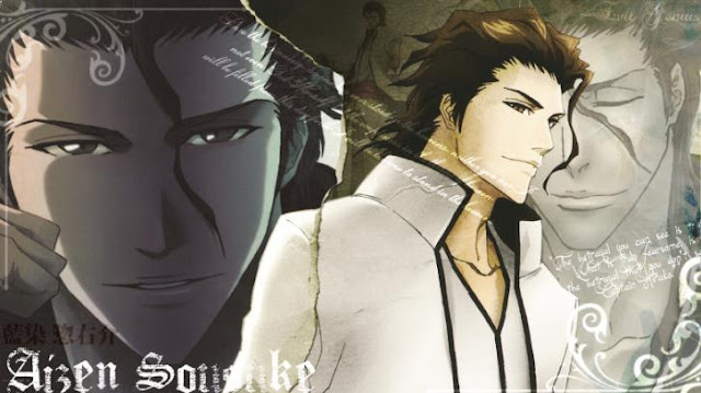 Aizen Sousuke ( Bleach ) - Top Immortal Anime Characters