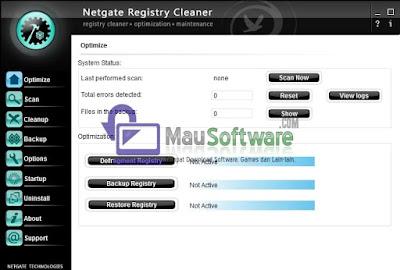 software utilitas registry, cara mendefrag registry, menghapus file registry dengan benar menggunakan software netgate registry cleaner, mengoptimalkan registry pada komputer atau laptop, backup file registry, restore file registry, optimalkan komputer dari file registry