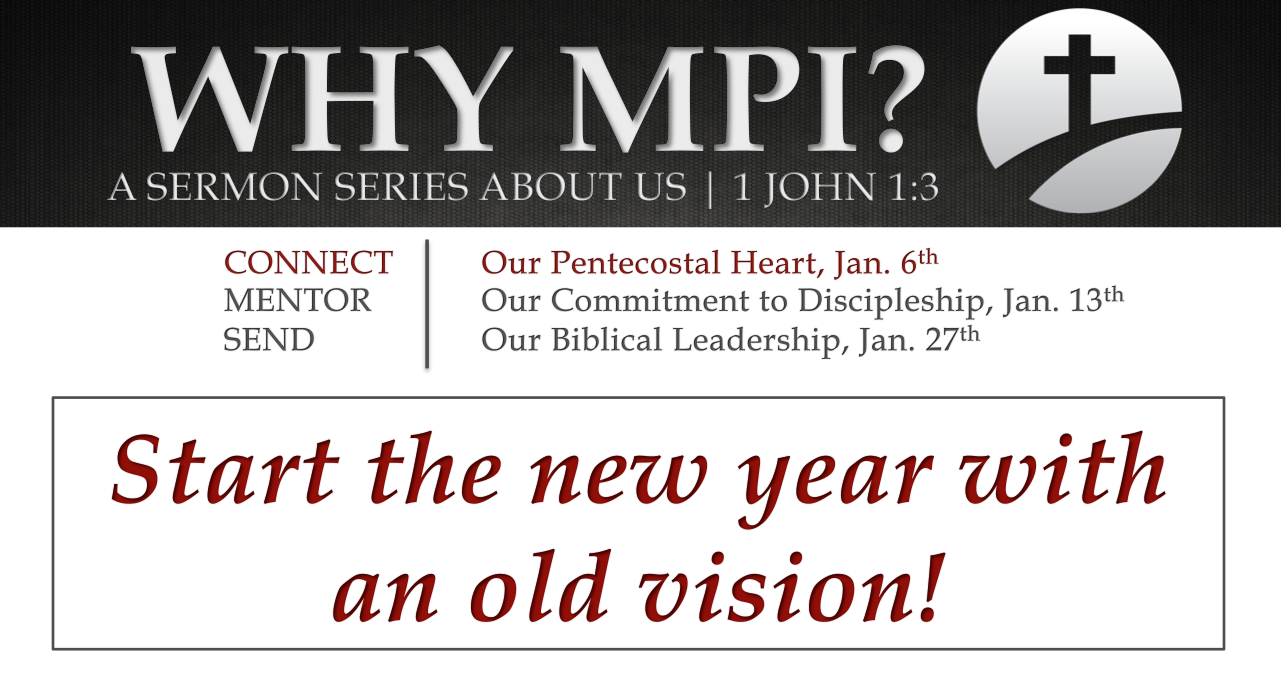 Why MPI? Part 1 | Connect, Our Pentecostal Heart | Metro