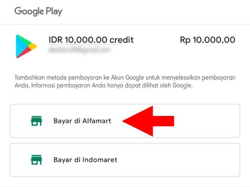 Pilih Minimarket Untuk Membayar