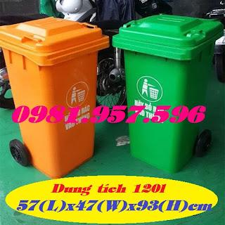 Thùng rác công cộng, thùng rác bệnh viện, thùng rác dung tích 120l