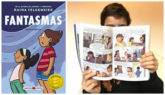 Cómic infantil juvenil 8 años regalar navidad Fantasmas Raina Telgemeier