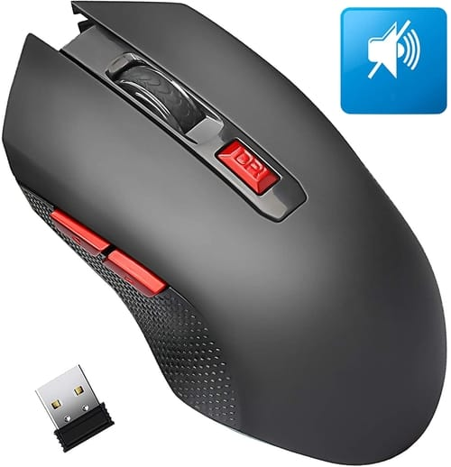 Review AREYTECO Cordless Laptop Mouse with Noiseless Click