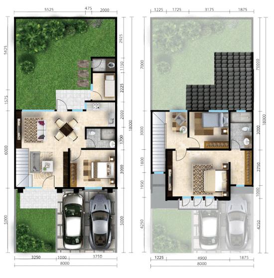 53 Gambar Rumah Minimalis Kamar 4 Terbaru