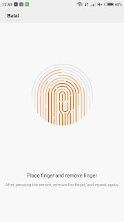 Cara Aktifkan Fitur Finger Print Xiaomi Redmi 3 Pro