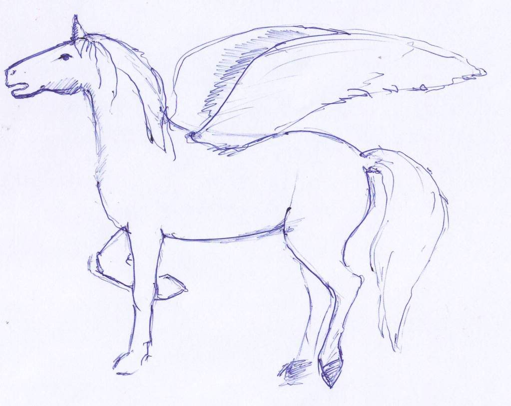 Mythical Animals Drawings Easy