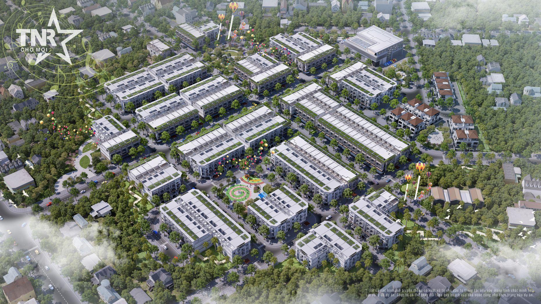 Phối cảnh tổng thể dự án khu đô thị TNR Stars Chợ Mới (An Giang)