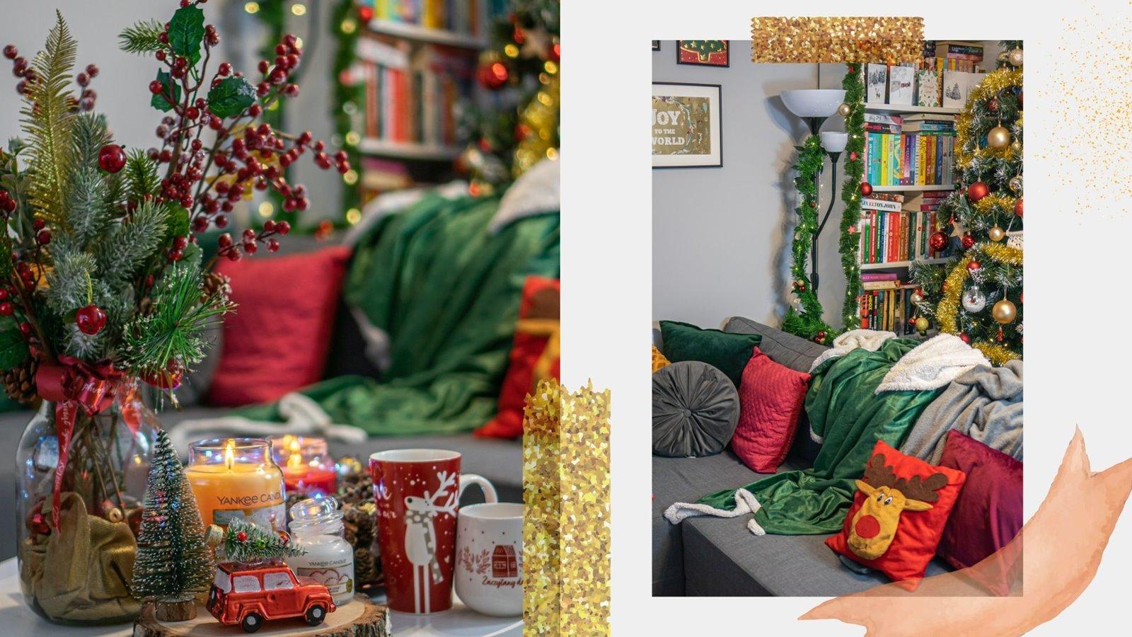 5 świąteczny koc, poduszki, zasłony dodatki na boże narodzenie christmas livingroom decorations ideas inspiration inspiracje dekorowanie urzadzanie wnetrz